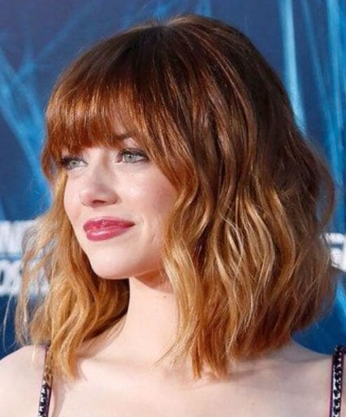 emma stone short hair ombre