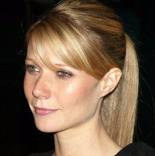 gwyneth paltrow long hair with bangs