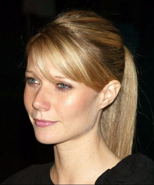 gwyneth paltrow side swept bangs