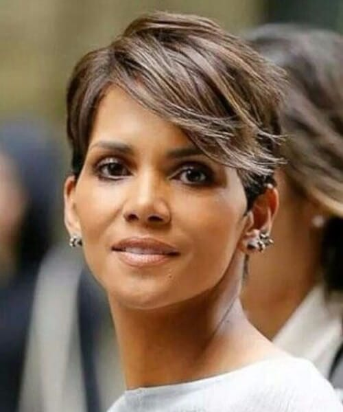 halle berry side swept bangs