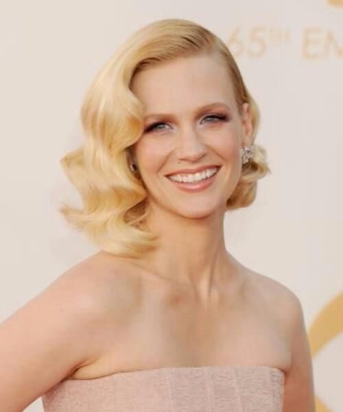january jones asymmetrical bob