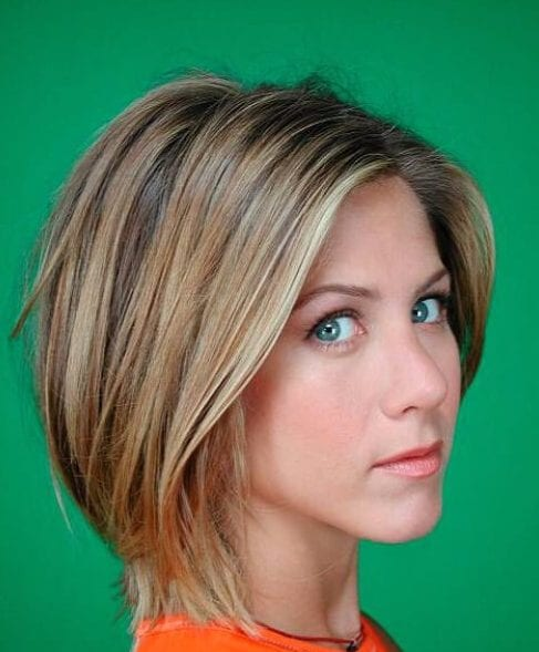 jennifer aniston asymmetrical bob