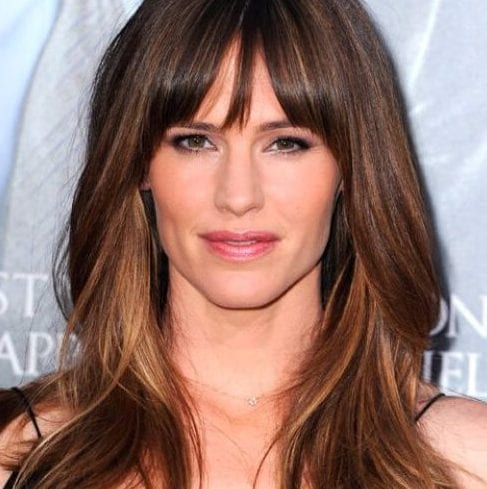 jennifer garner long hair with bangs