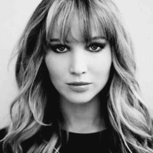 jennifer lawrence long hair with bangs