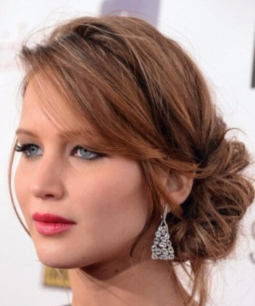jennifer lawrence side swept bangs
