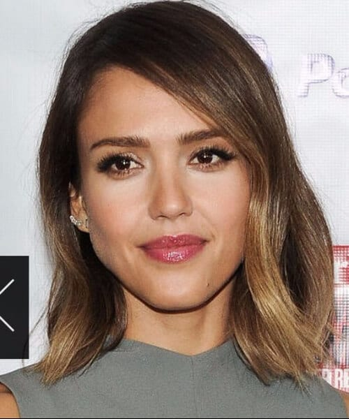 jessica alba short hair ombre