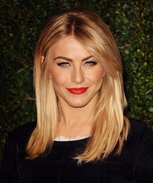 julianne hough side swept bangs