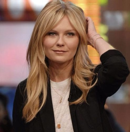 kirsten dunst long hair with bangs