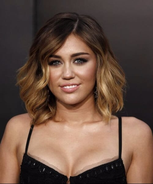 miley cyrus short hair ombre