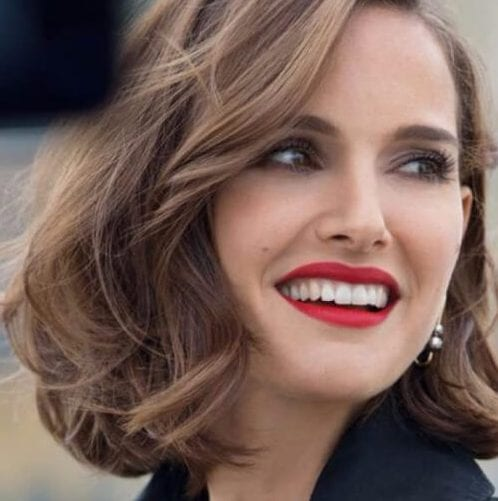 natalie portman short hairstyles for thick hair