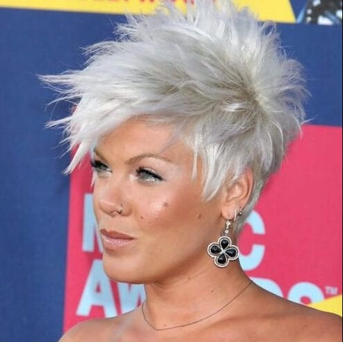 pink short hairstyles for thick hair