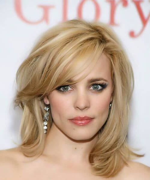 rachel mcadams side swept bangs