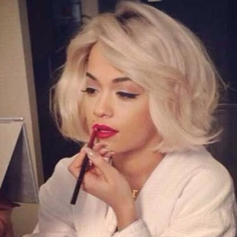 rita ora short hairstyles for thick hair