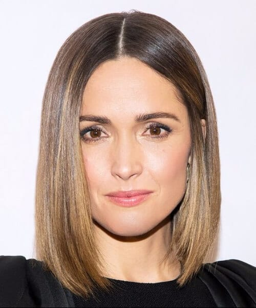 rose byrne short hair ombre