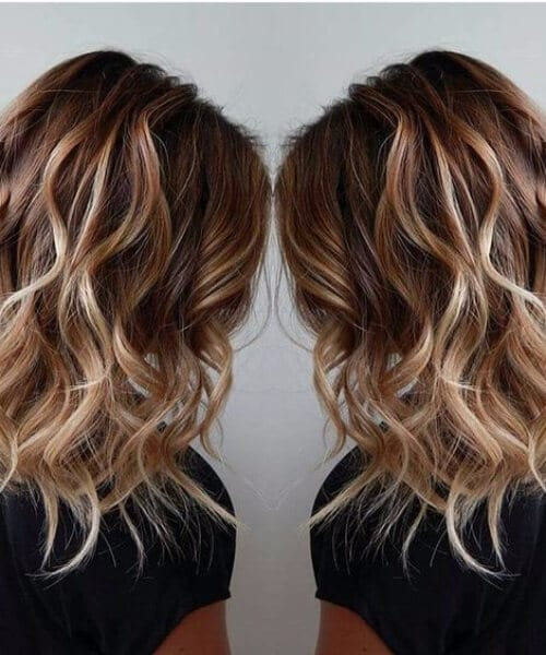 rum and raisin short hair ombre