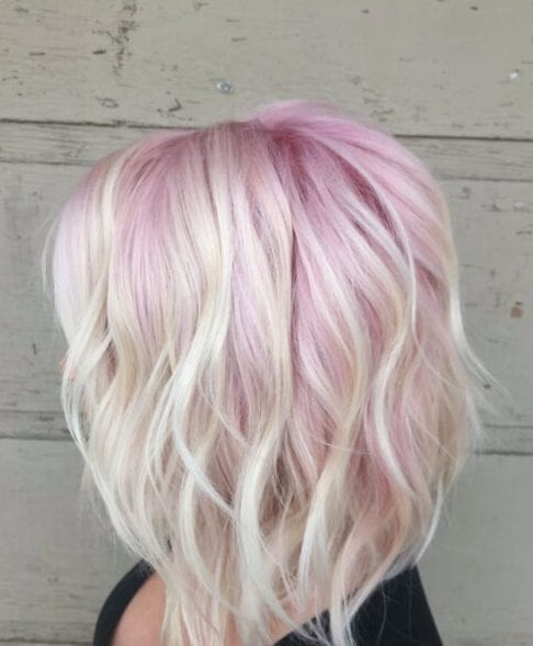 taffy pink short hair ombre