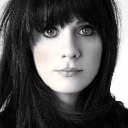 zooey deschannel long hair with bangs