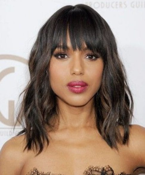 Kerry Washington long bob haircuts
