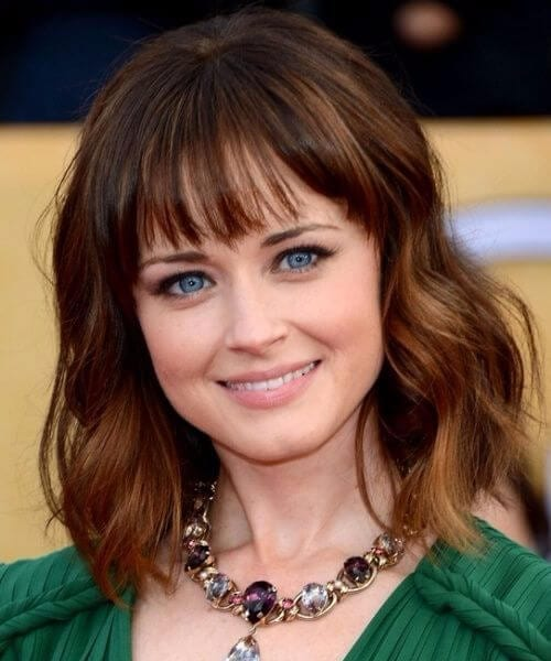 alexis bledel long bob haircuts