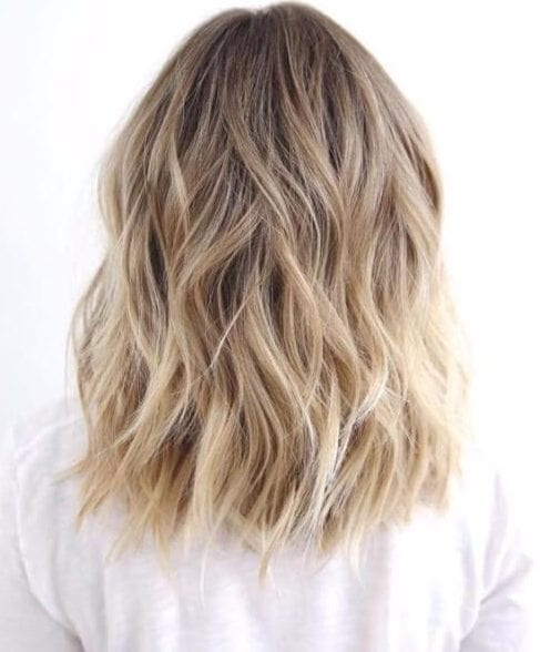 balayage short hair blonde nutmeg