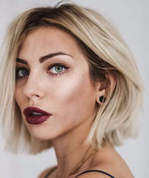 balayage short hair manhattan blonde