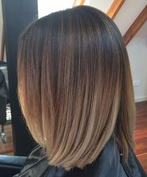 Balayage Short Straight Bob