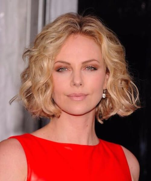 charlize theron layered bob