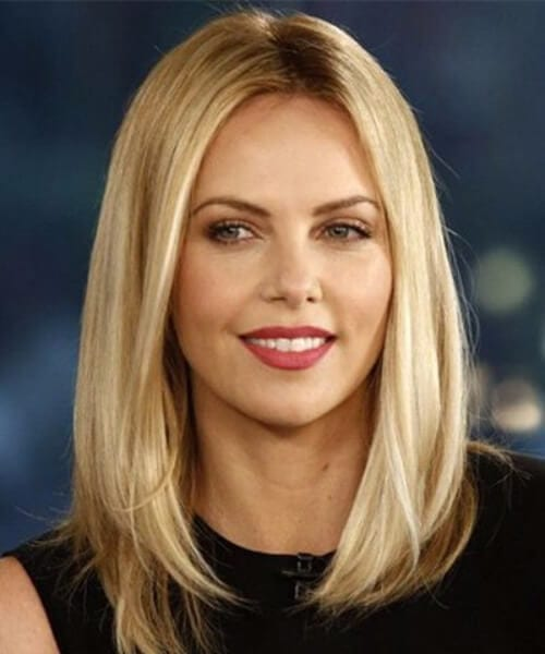 charlize theron long bob haircuts