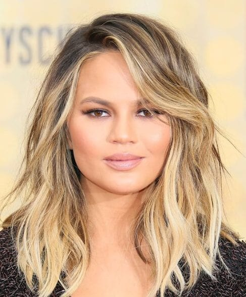 chrissy teigen long bob haircuts