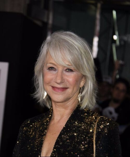 helen mirren layered bob