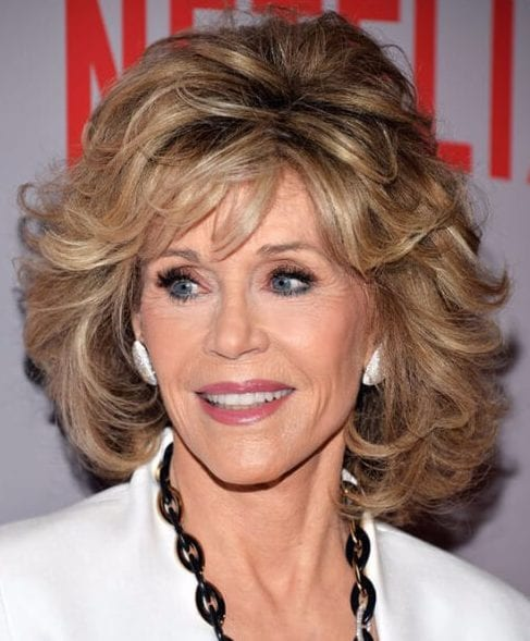 jane fonda layered bob