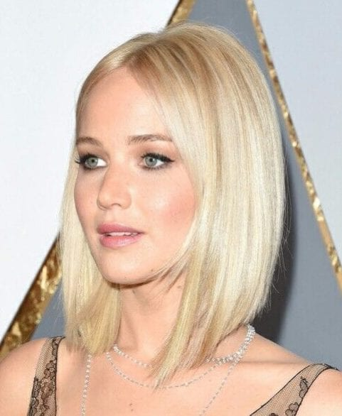 jennifer lawrence long bob haircuts