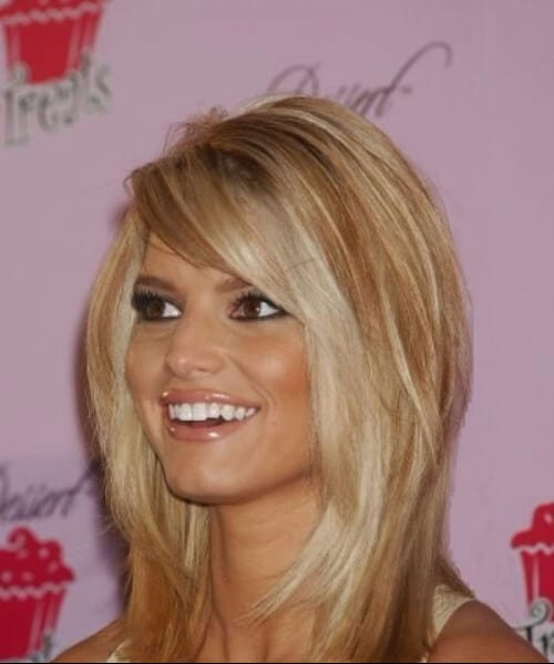jessica simpson layered bob