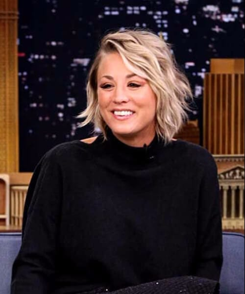 kaley cuoco layered bob