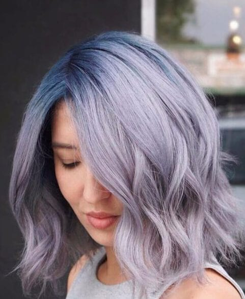 lavender balayage short hair