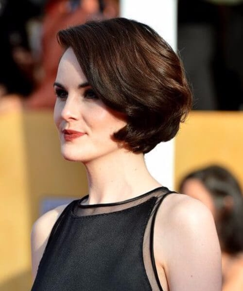 michelle dockery layered bob