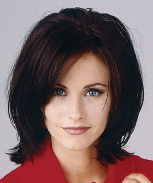 monica geller layered bob