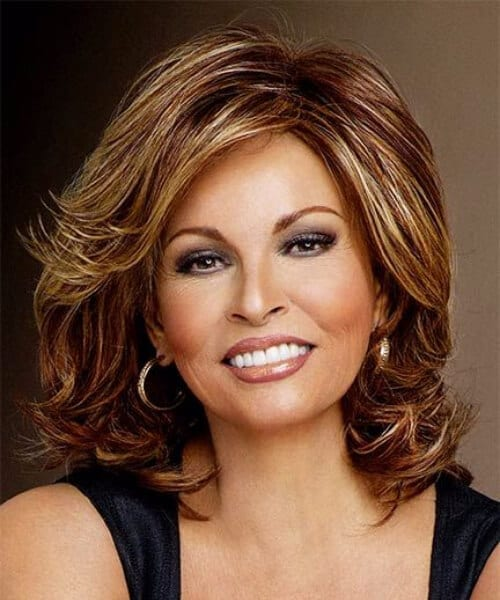 raquel welch layered bob