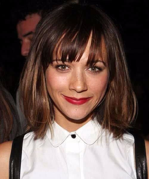 rashida jones long bob haircuts