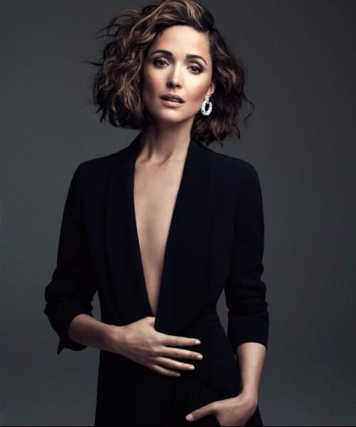 rose byrne layered bob