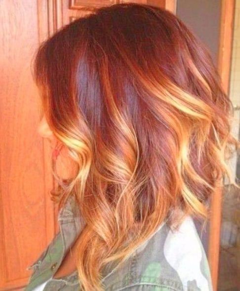 summer red balayage short hair