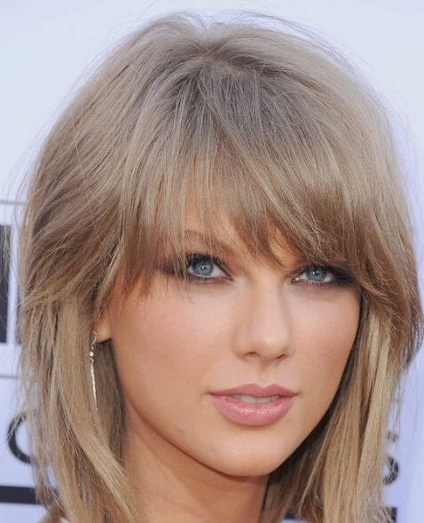 taylor swift layered bob