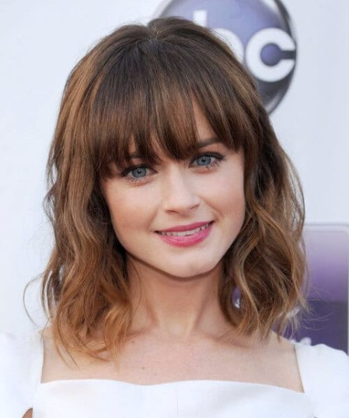alexis bledel short hair with bangs