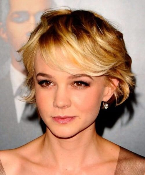 carey mulligan short hair with bangs