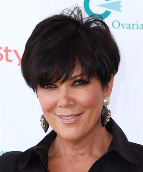 chris jenner short hair with bangs
