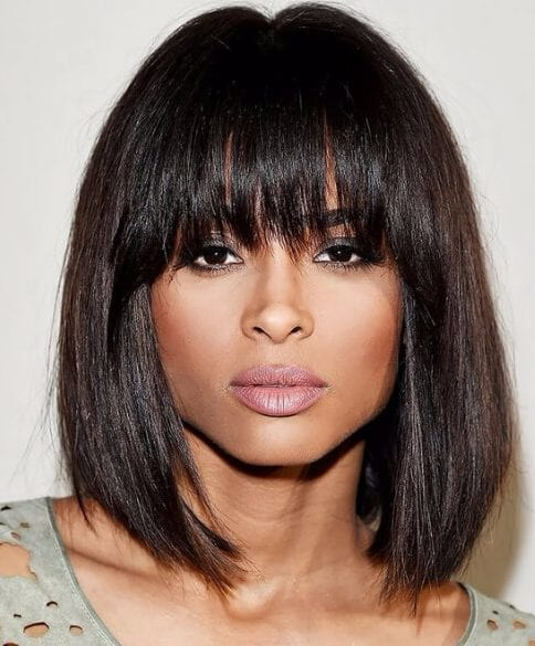 ciara short hair with bangs