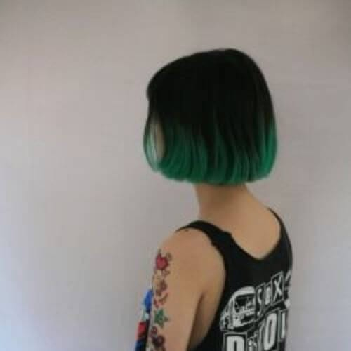 forest green inverted bob