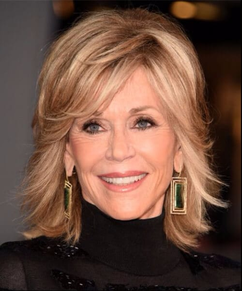 jane fonda short hair with bangs