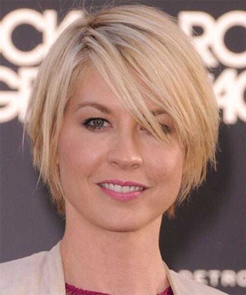 jenna elfman short hair with bangs