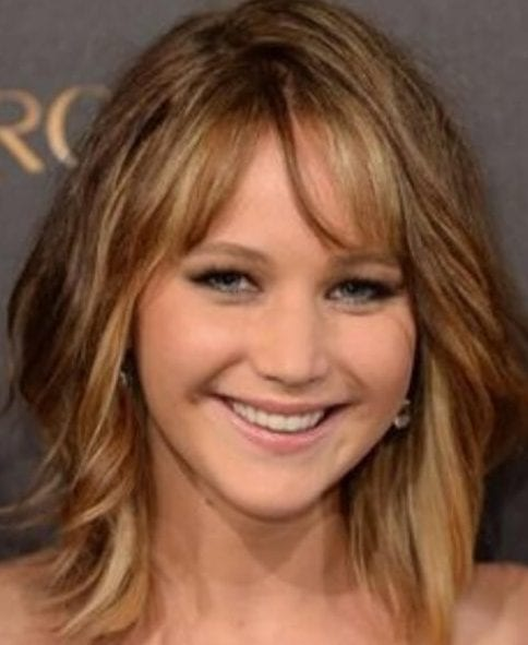 jennifer lawrence short hair with bangs